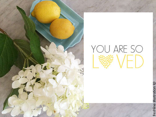 printable art, you are so loved, print
