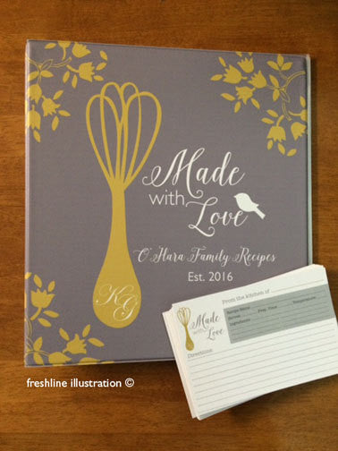 bridal shower recipe binder recipe card set Thumbnail