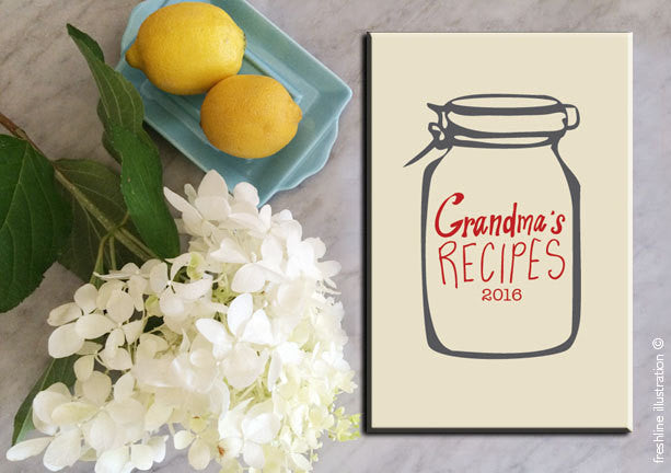 gifts for grandma grandma gift gift for grandmas to be recipe journal recipe book personalized recipe book Thumbnail