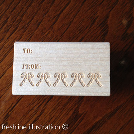 christmas tag stamp rubber stamp