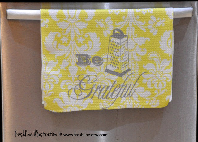 be grateful kitchen home decor tea towel custom kitchen decor