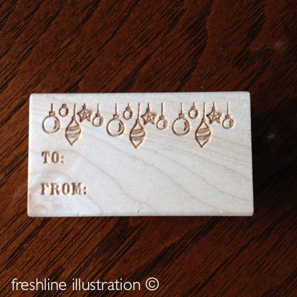 to from stamp gift tag stamp christmas stamp - Freshline Illustration