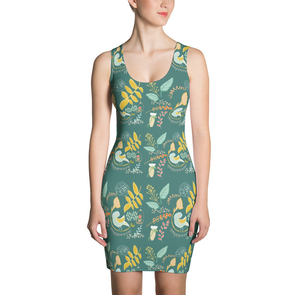 Birds and Ferns Dress, Bird Dress