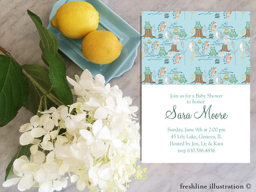 Printable Baby Shower Invitations Woodland Animals