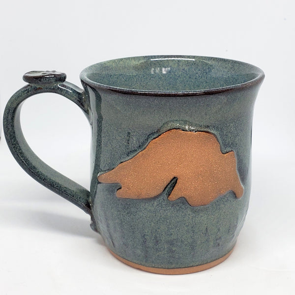16 oz Lake Superior Slate mug - Green Cabin Pottery