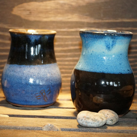 Blue Bud vases - Green Cabin Pottery