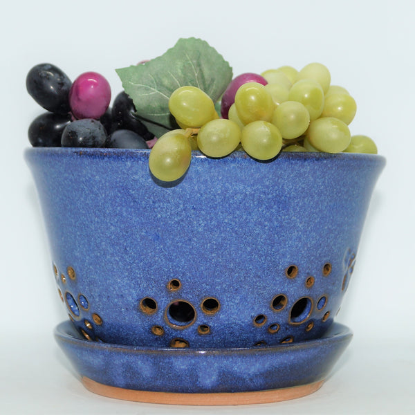 Berry Bowl: Blue - Green Cabin Pottery