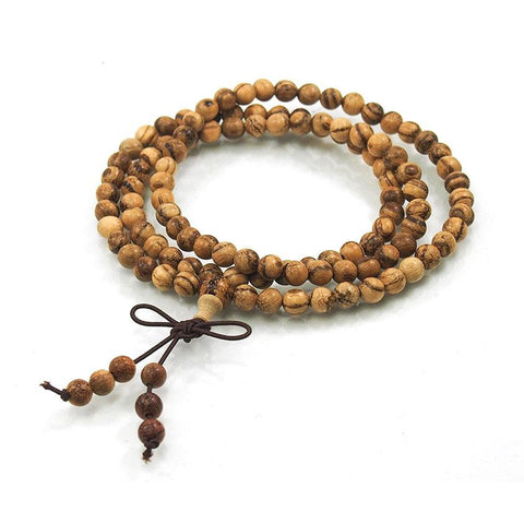 Banded Sandalwood 6mm Mala
