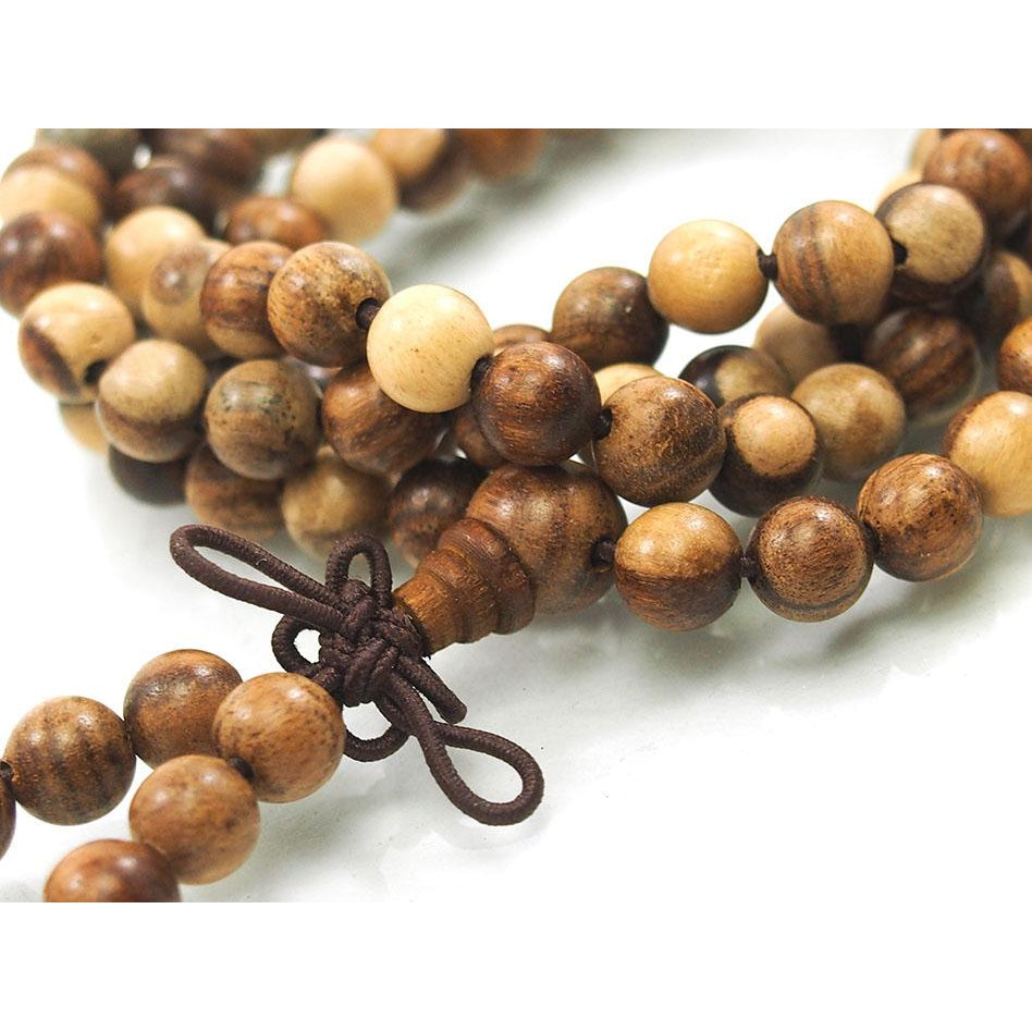 Yellow Brown Sandalwood 6mm Mala