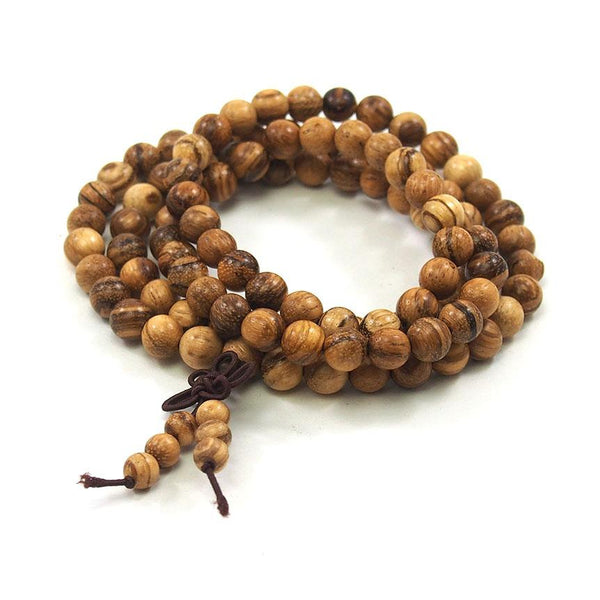 Banded Sandalwood 8mm Mala