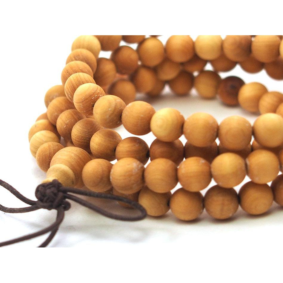 Blonde Sandalwood 6mm Mala from Southwest Australia