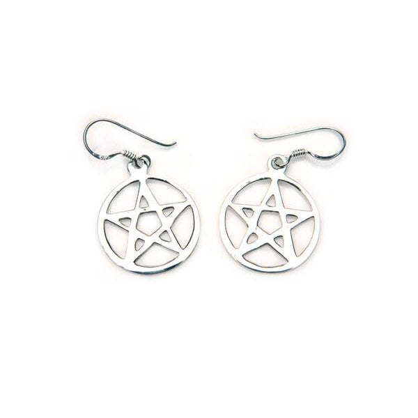 Pentagram Sterling Silver Earrings