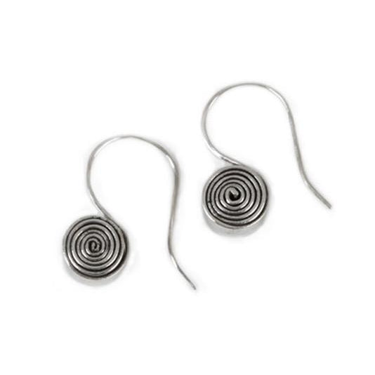 Sterling Silver Scroll Earrings