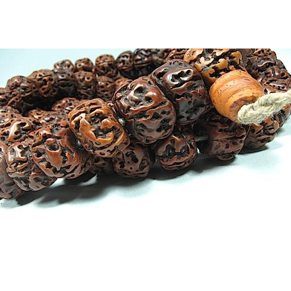Smooth Large Rudraksha Mala 16mm