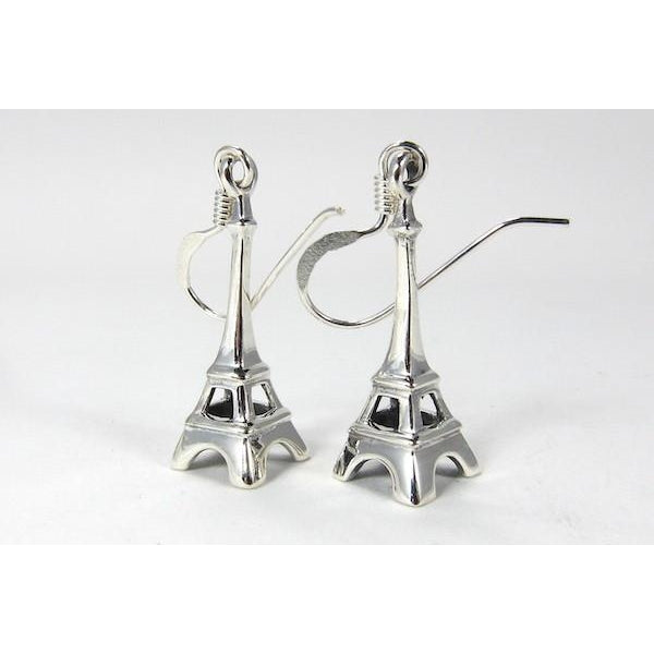 Eiffel Tower Sterling Silver Earrings