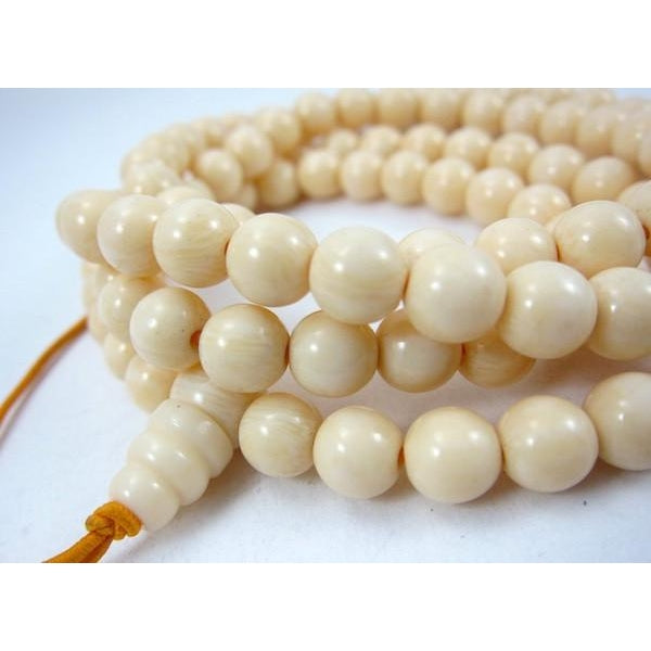 Cow/Ox Bone Resin Mala 8mm