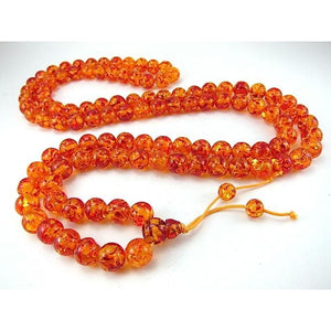 Faux Amber Resin Mala 14mm