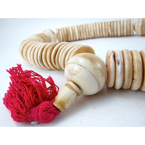XXL Cow Bone Disc Mala