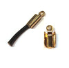 Base Metal Leather Crimp, Gold