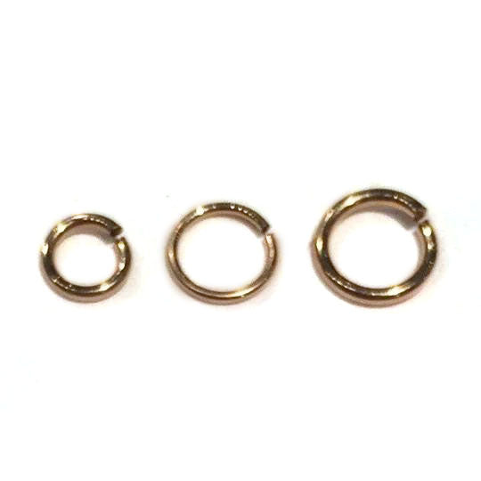 Gold Filled Jump Rings, Open