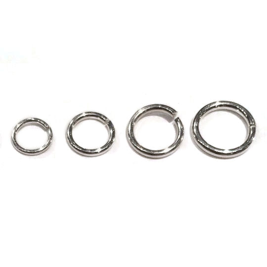 Sterling Silver Jump Rings, Open