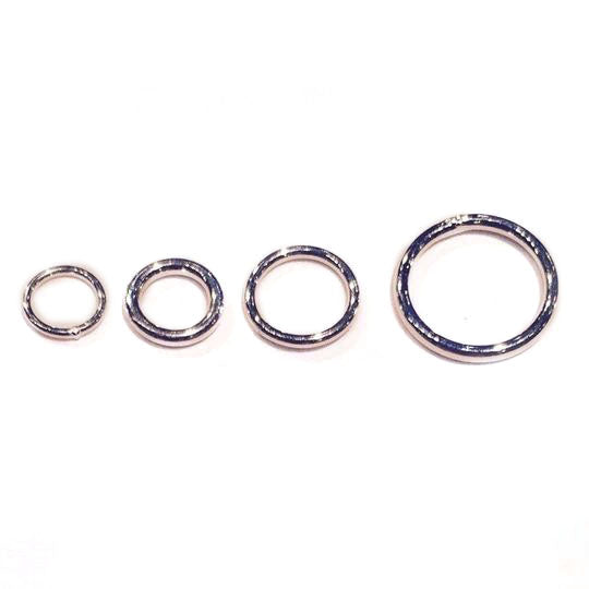 Sterling Silver Jump Rings, Closed