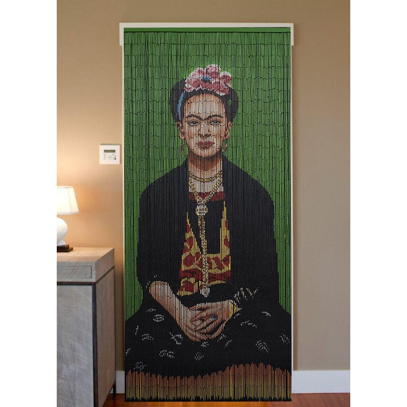 Bamboo Beaded Curtain Hand Painted - Frida (G)