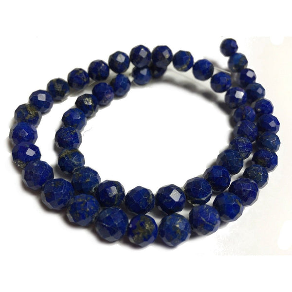 Lapis Lazuli 8mm Faceted Rounds Strand