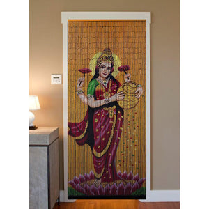 Beaded Curtain Hand Painted - Lakshmi Gold