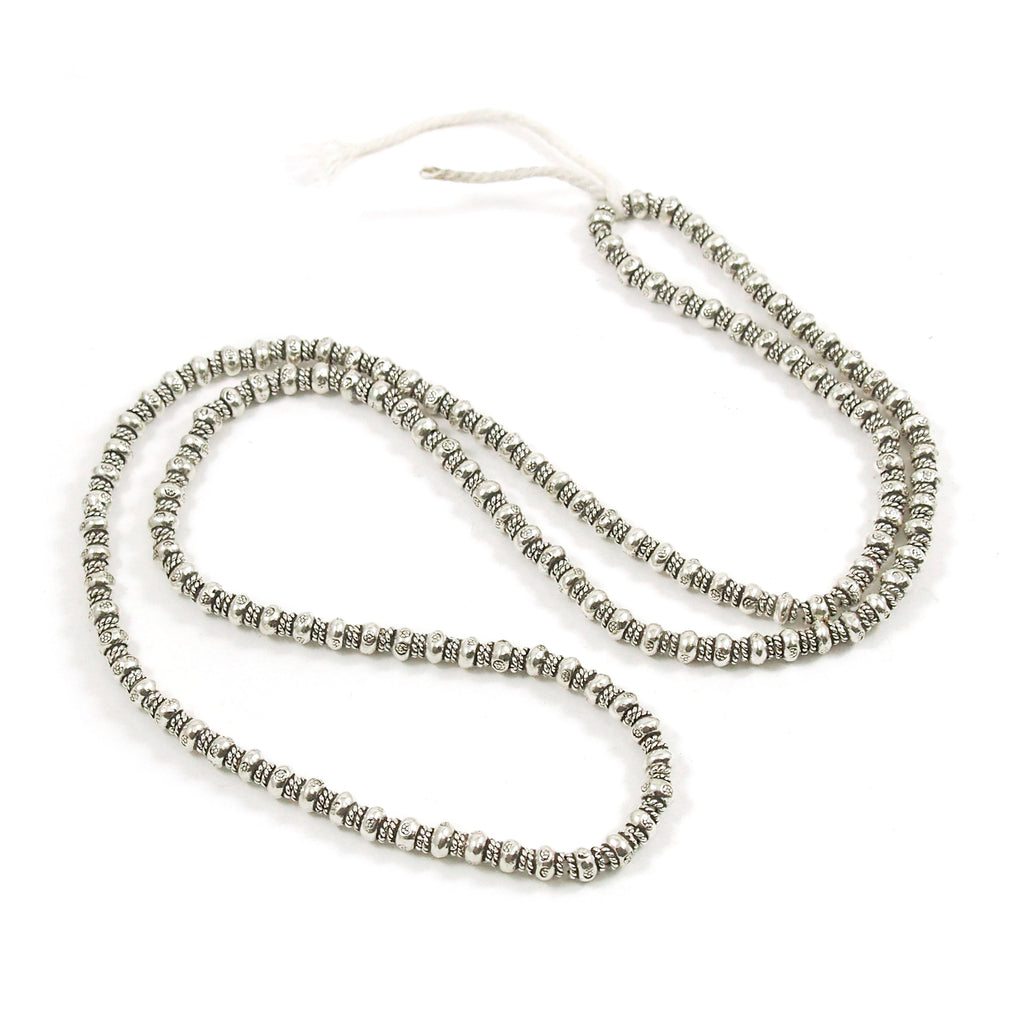 98% Pure Hill Tribe Silver 5mm Beads 34