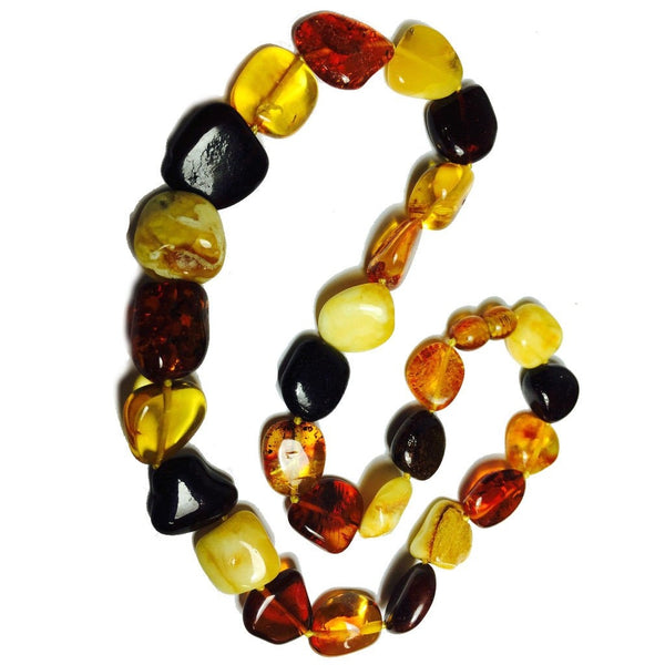 Natural Amber Baltic 14mm Nugget Strand/Necklace
