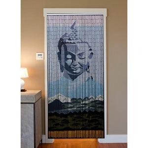 Bamboo Beaded Curtain Hand Painted-Buddha Mountain