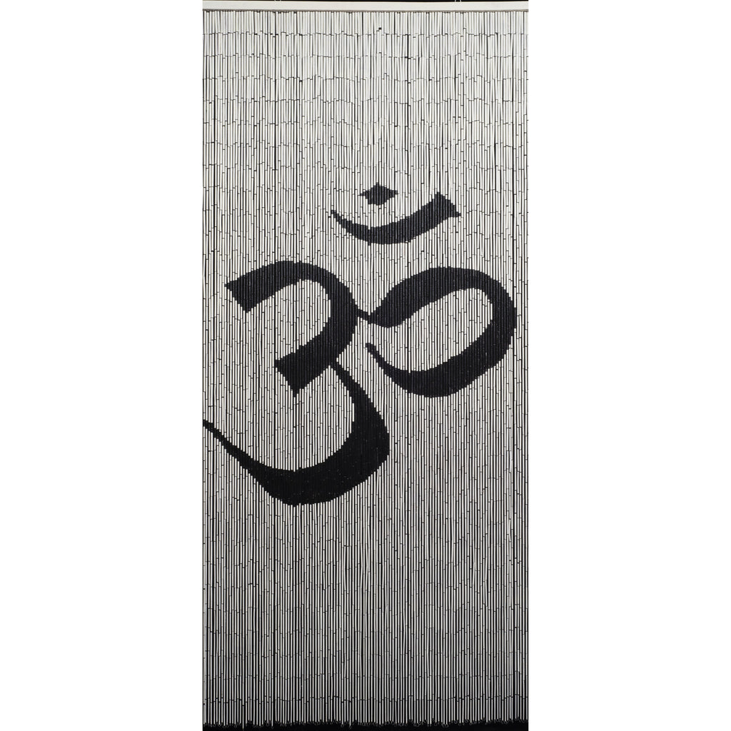 Bamboo Beaded Curtain Hand Painted-Om Symbol