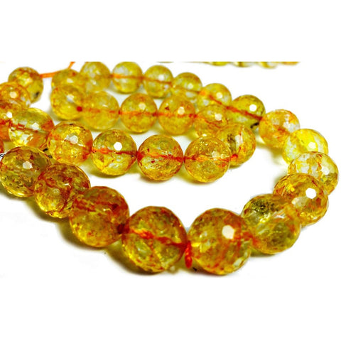 Citrine Laser Faceted 12mm Rounds