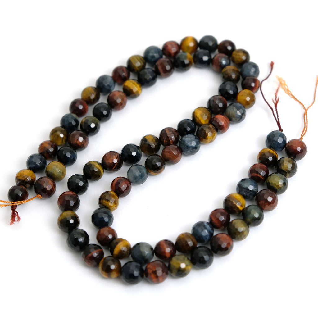 Tiger's Eye Multi Color 10mm Faceted Rounds