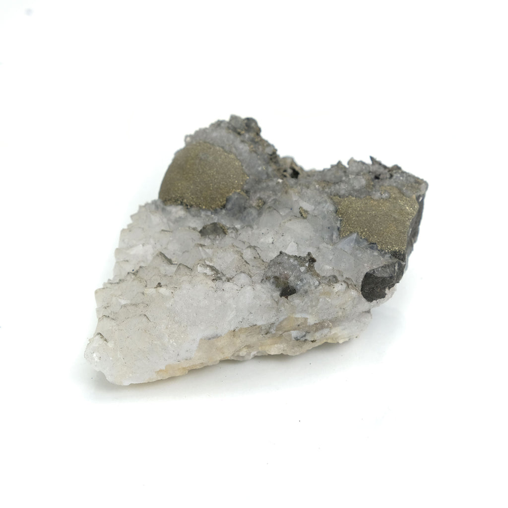 Pyrite and Quartz Cluster from El Hammam Mine, Morocco Specimen #32