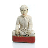 Meditation Temple Figure Burma Wooden Statue #1