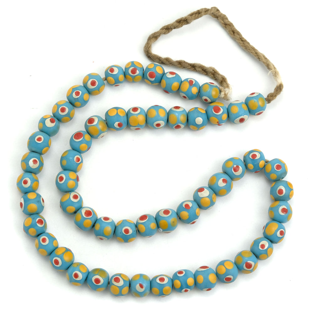 Eye Beads Recycled Glass Strand #2