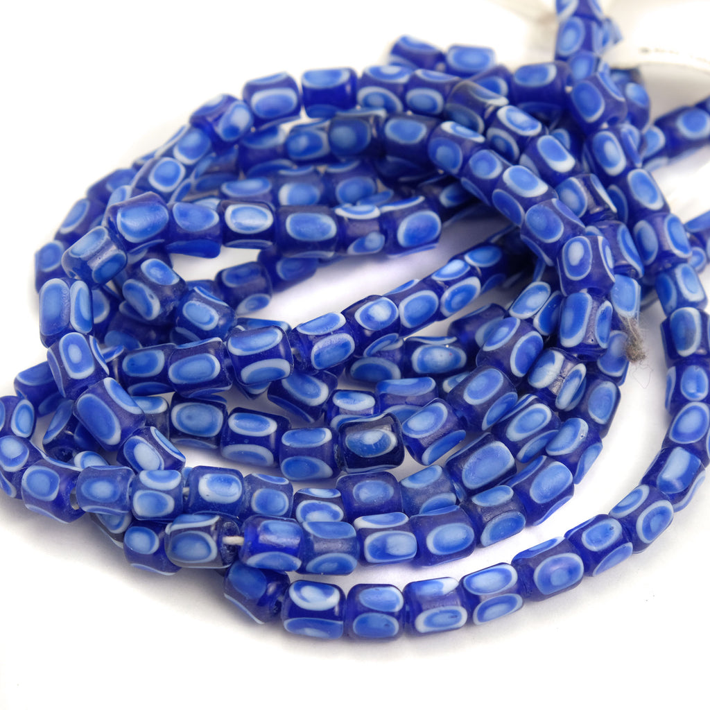 Eye Beads Recycled Glass Strand #7