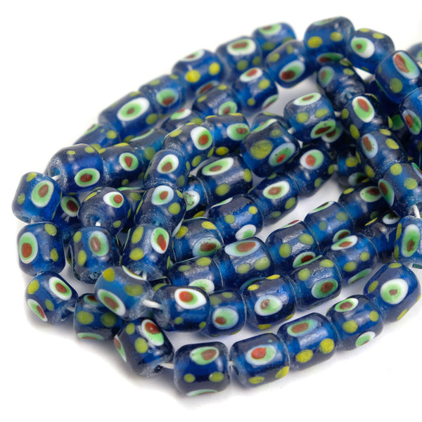 Eye Beads Recycled Glass Strand #12