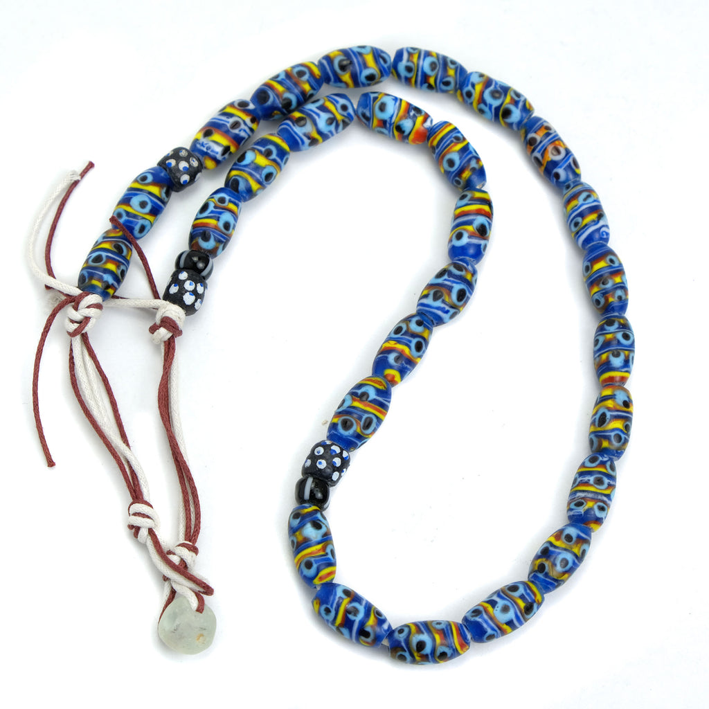 Eye Beads Recycled Glass Strand #27