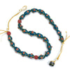 Eye Beads Recycled Glass Strand #39