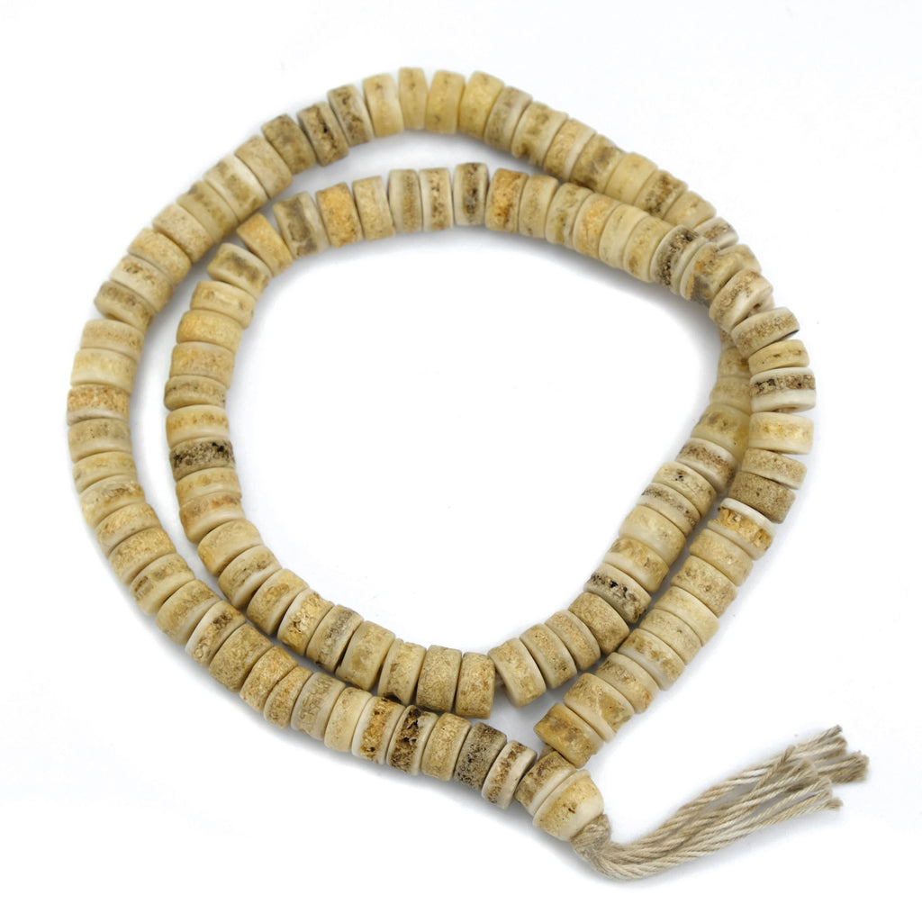 Plain Yak Bone Disc Mala