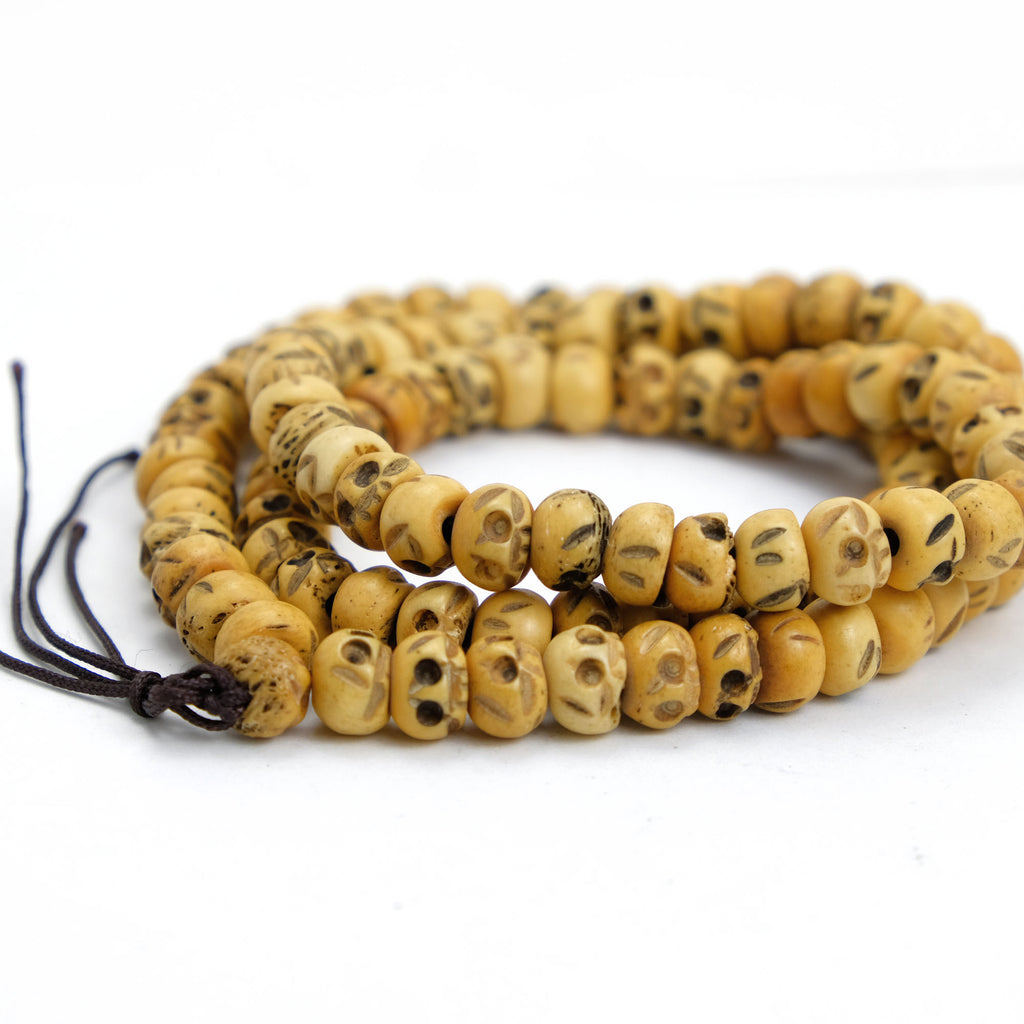 Bone Malas Bone Prayer Beads Yak And Cow Bone Mala Beads Carved Bone Mala Beads Beads Of Paradise