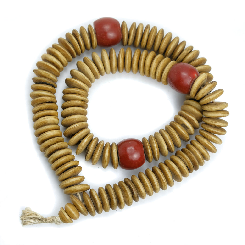 Cow Bone Disc Extra Large 21mm Mala