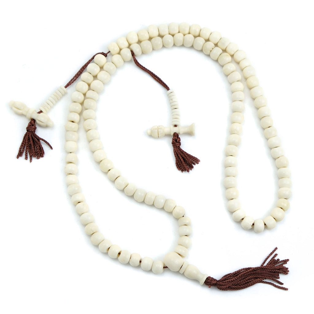Plain Bone Mala 6mm, 8mm, 10mm