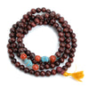Pine Wood Mala 10mm with Spacers