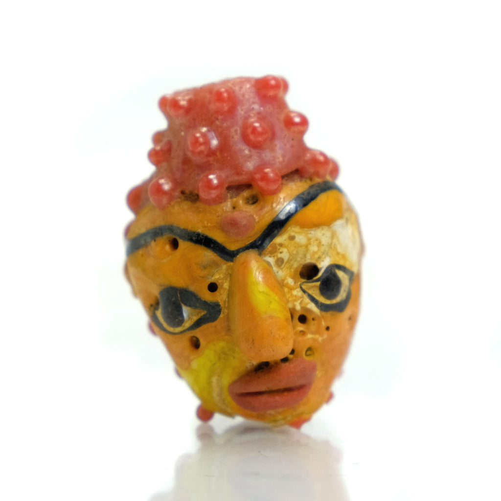 Buddha Head Recycled Glass Bead 4