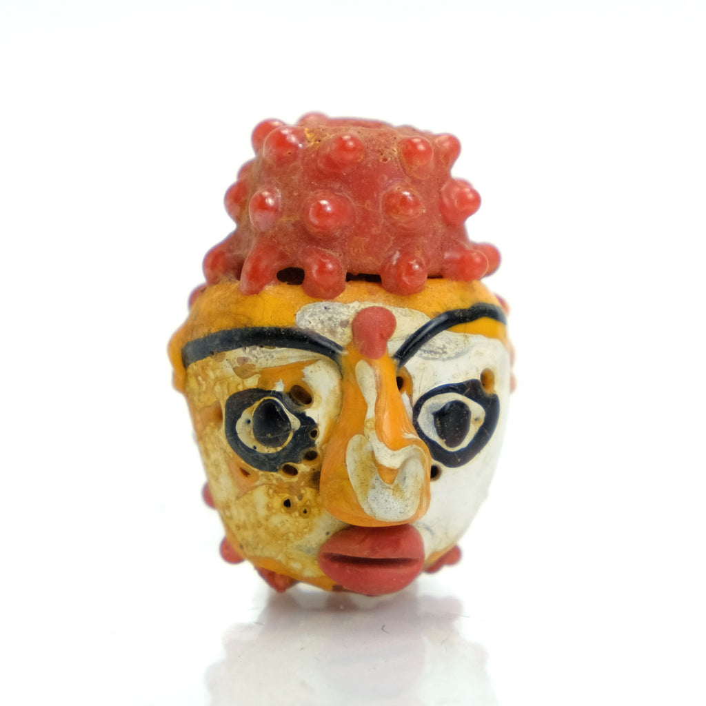 Buddha Head Recycled Glass Bead 5