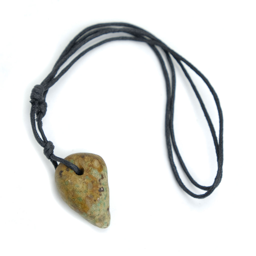 Excavated Amazonite Pendant, Medium